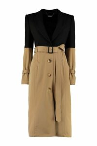Alexander McQueen Two-tone Long Trench Coat