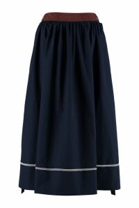 Marni Cotton Poplin Midi Skirt