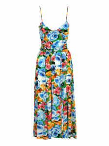 Msgm Msgm Floral Print Midi Dress