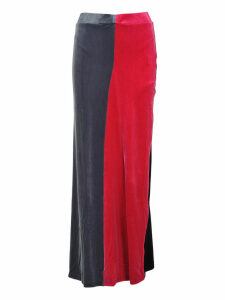 Y/project Y/project Colour Block Velvet Skirt