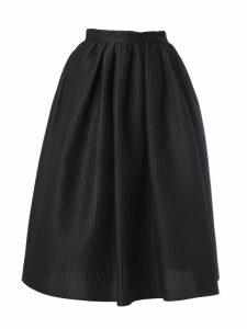Msgm Textured Flared Skirt