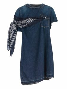 Sacai Denim Scarf Detail Dress