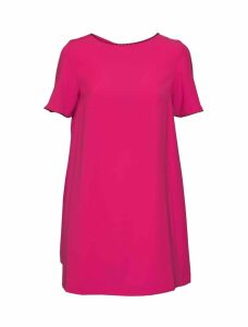 McQ Alexander McQueen Embellished Cape-effect Dress