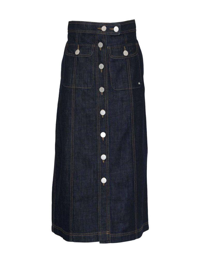 Maison Kitsuné Denim Midi Skirt