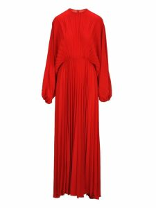 Valentino Valentino Pleated Evening Dress