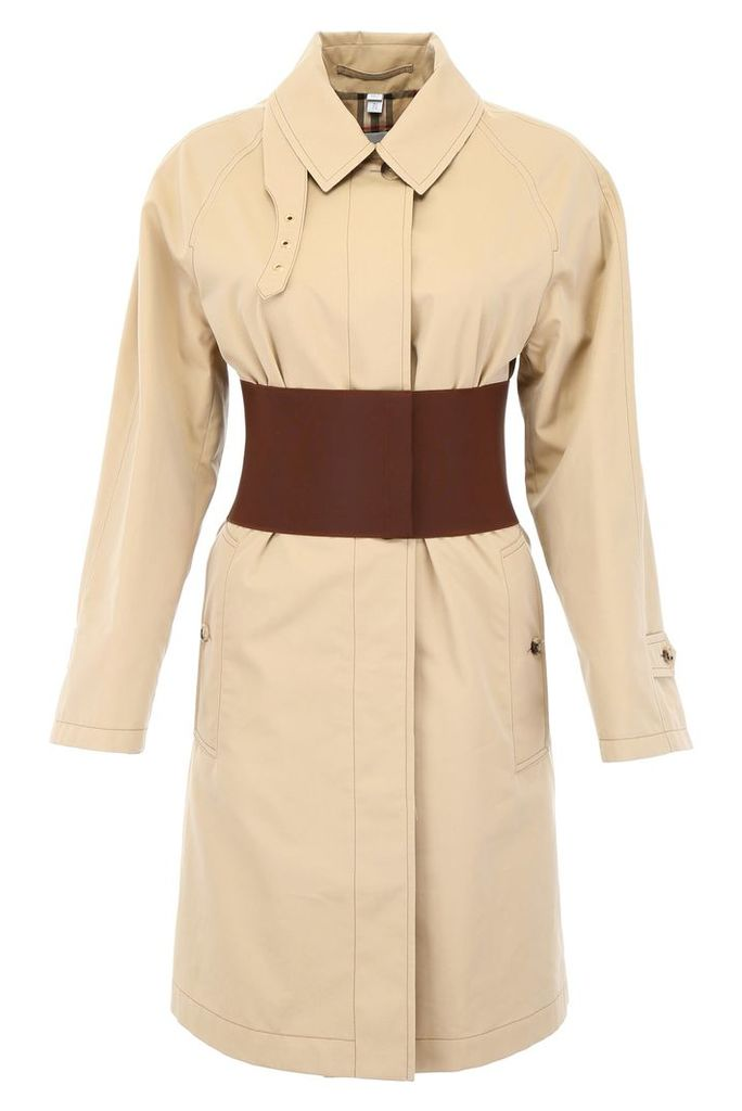 Burberry Trench Coat With Elastic Waistband