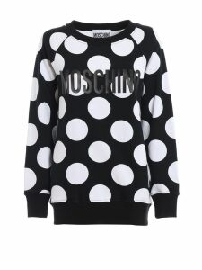 Moschino Polka-dot Cotton Jersey Long Sweatshirt