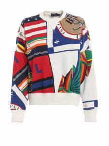 Polo Ralph Lauren Printed Oversized Cotton Sweatshirt