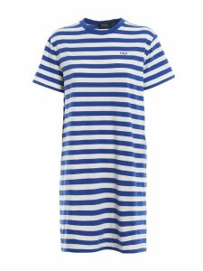 Polo Ralph Lauren Striped Logo Embroidery Cotton Dress
