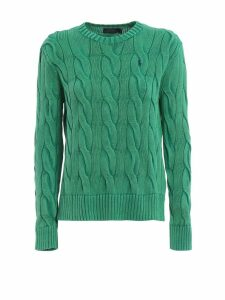 Polo Ralph Lauren Cable Knit Green Cotton Sweater