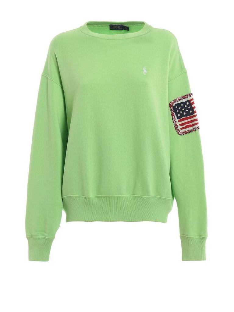 Polo Ralph Lauren American Flag Cotton Sweatshirt