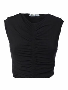 T by Alexander Wang Ruched Cropped Top