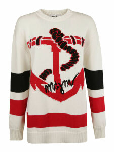 MSGM Anchor Patterned Sweater