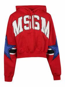MSGM Star Logo Hoodie