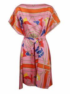 MSGM Nautical Print Midi Dress