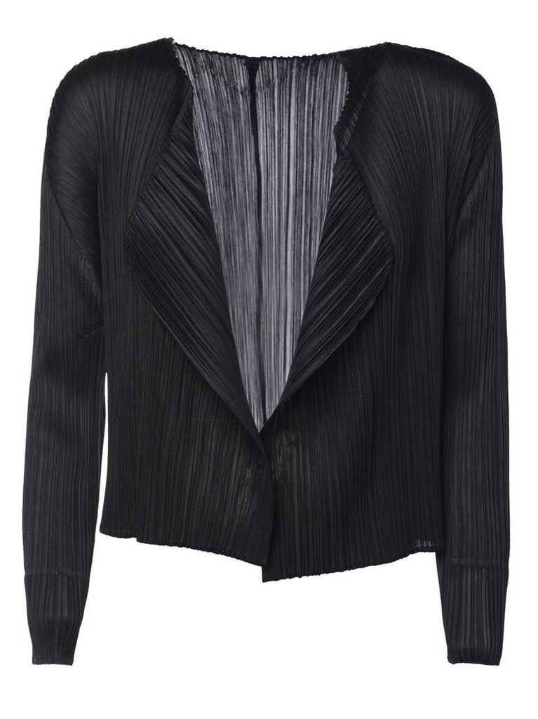 Pleats Please By Issey Miyake Open Front Cardigan