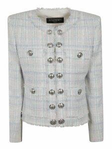 Balmain Button-embellished Tweed Blazer