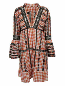 Dodo Bar Or Embroidered Gingham Dress