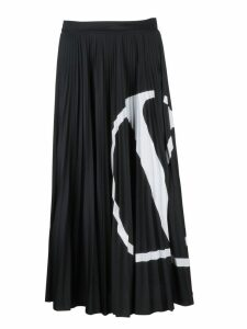 Valentino Pleated Logo Skirt