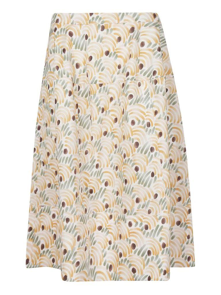 Marni High Waist Printed Skirt