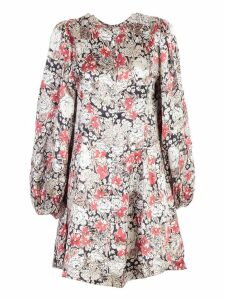 Ganni Floral Mini Dress