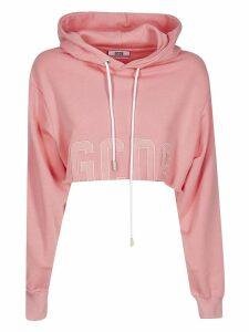GCDS Cropped Hooded Sweatshirt