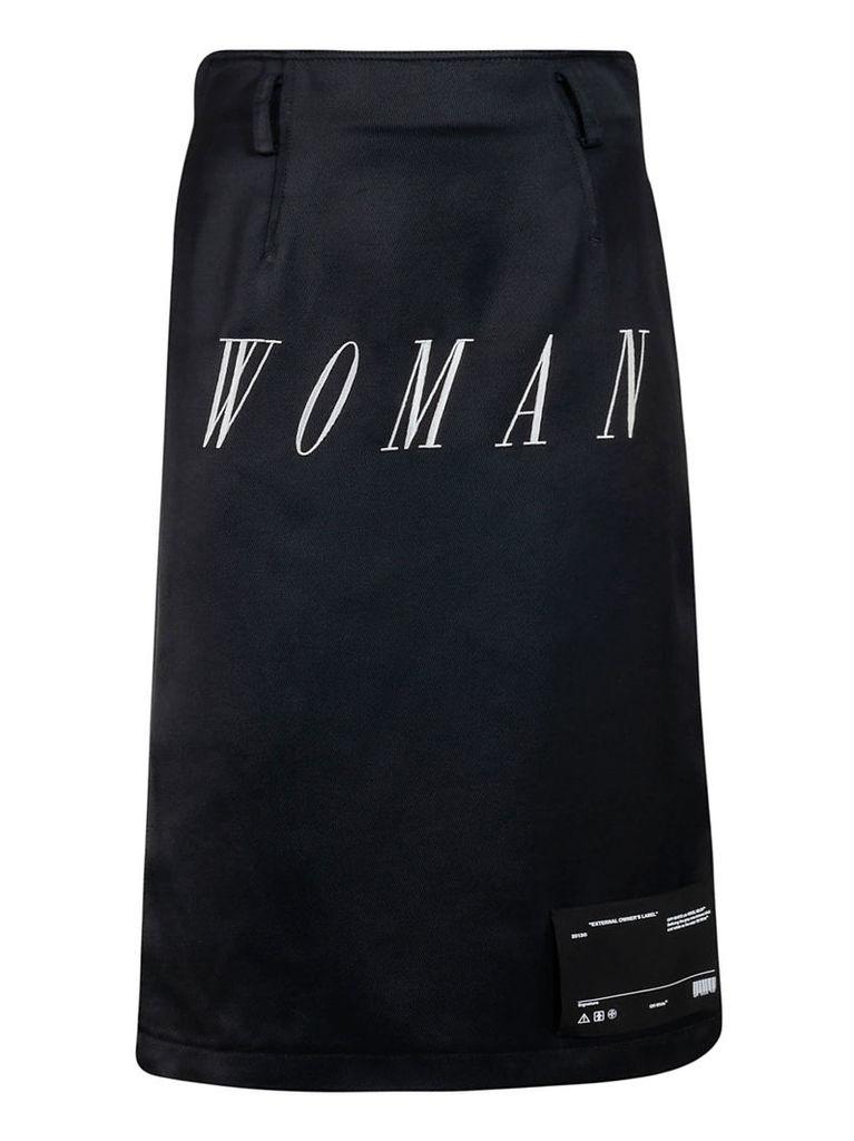 Off-white Mid-length Woman Skirt