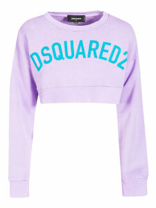 Dsquared2 Logo Print Cropped T-shirt