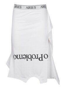 Aries Slogan Midi Skirt