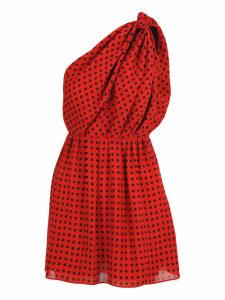 Saint Laurent Saint Laurent star Scandal Print Draped Dress