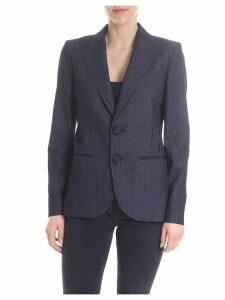 Emporio Armani Cotton Denim Blazer