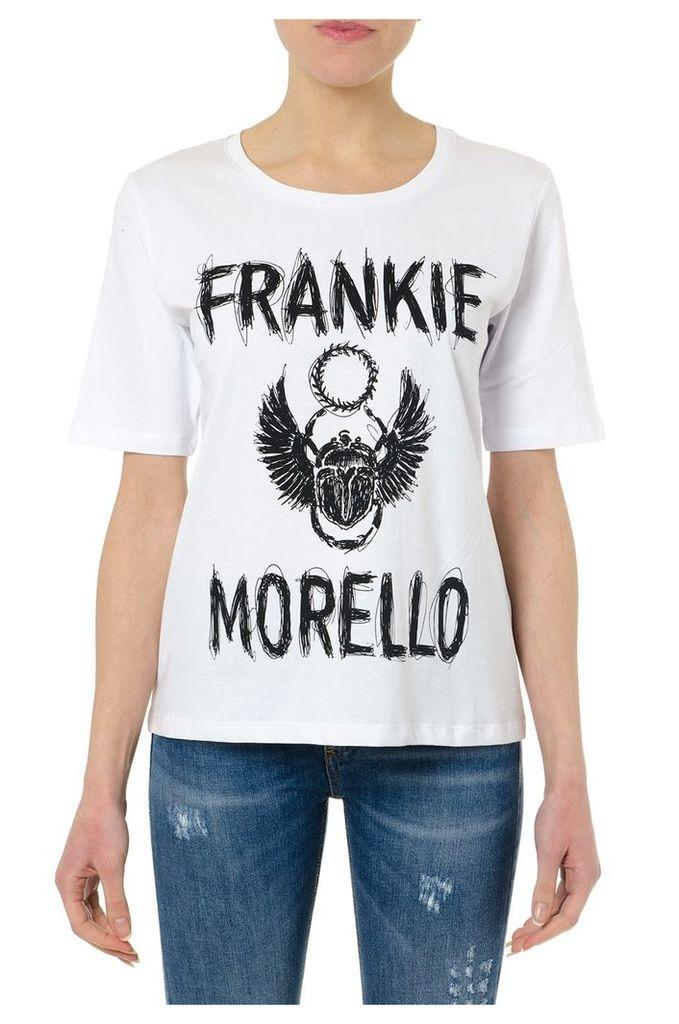 Frankie Morello White Cotton Frankie Morello T-shirt