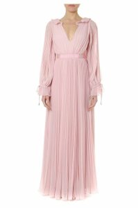 self-portrait Evening Dress In Chiffon In Pink Color