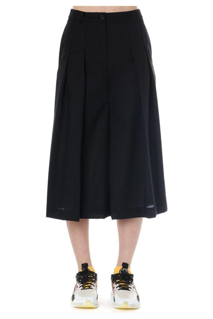 McQ Alexander McQueen Black Wool Skort