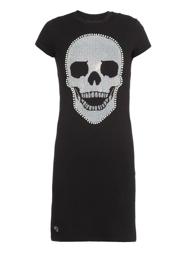 Philipp Plein Mini Dress Skull
