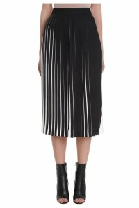 Maison Margiela Black And White Pleated Skirt