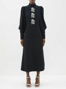 Thierry Colson - Floral Print Cotton Maxi Dress - Womens - Pink Multi