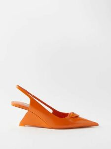Loup Charmant - Corolla Shirred Cotton Dress - Womens - Dark Orange
