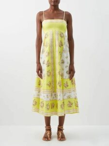 Marysia - Gingham Patchwork Sarong Skirt - Womens - Multi