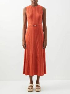 Emilia Wickstead - Nicola Ship Print Midi Skirt - Womens - Blue Print
