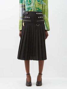 Emilia Wickstead - Sheila Ship Print Midi Dress - Womens - Blue Print