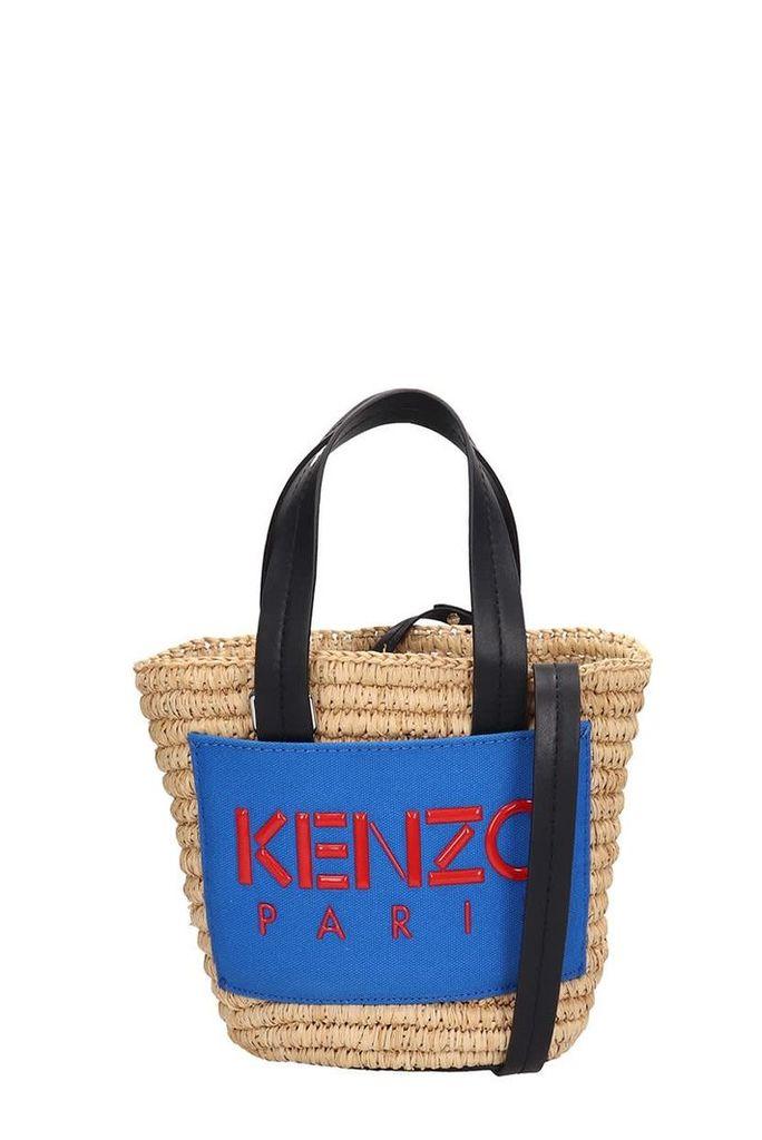 Kenzo Beige Braided Fabric Small Summer Basket Bag