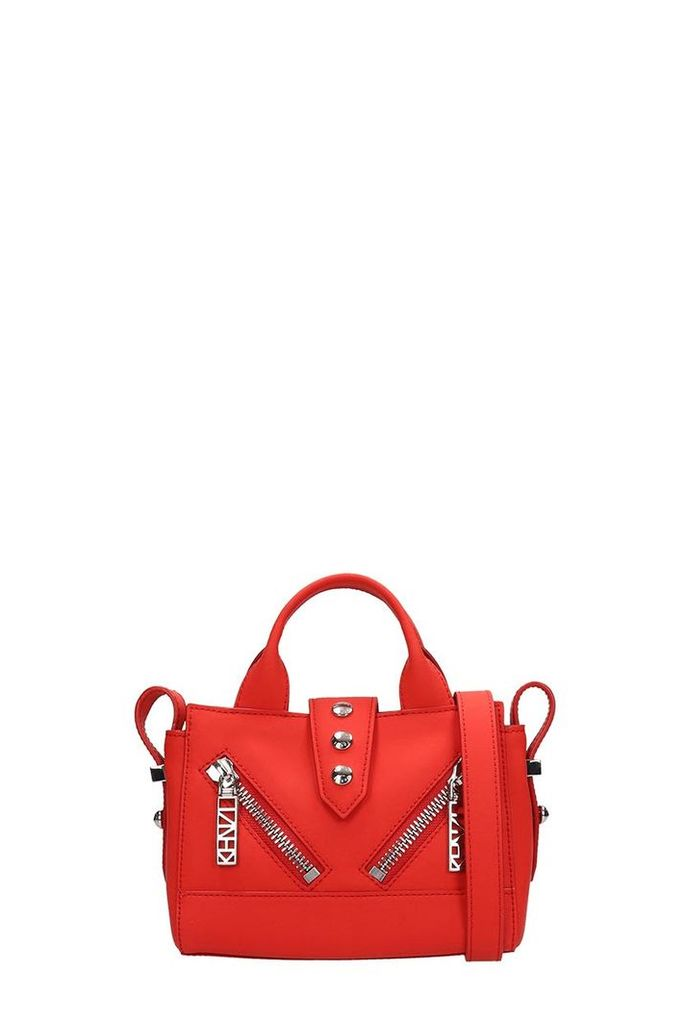 Kenzo Red Rubberized Leather Kalifornia Mini Bag