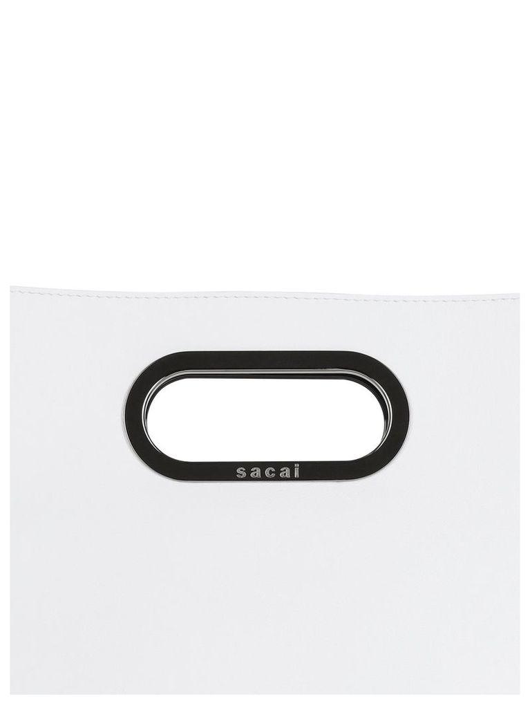 Sacai Logo Print Tote