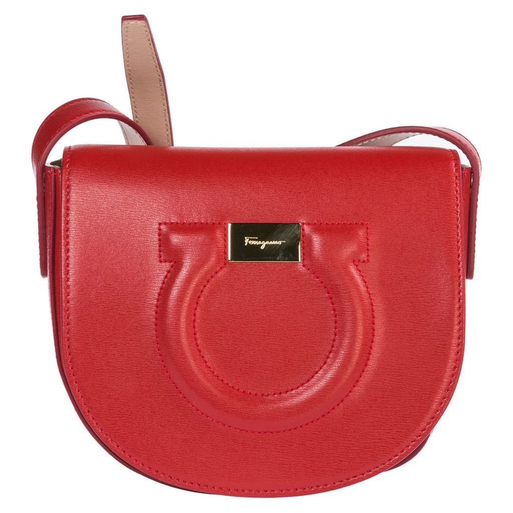 Salvatore Ferragamo Leather Cross-body Messenger Shoulder Bag