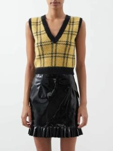 Prada - Tie Dye Silk Faille Skirt - Womens - Black Green