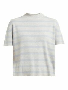 Barrie - Summer Vibration Striped Cashmere Sweater - Womens - Grey Multi