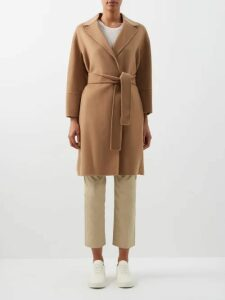 Rianna + Nina - Abstract Print Cotton Blend Coat - Womens - Green Multi