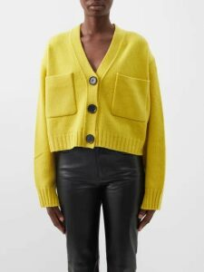 Balmain - Double Breasted Logo Button Tweed Skirt - Womens - Blue White