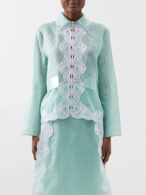 Vetements - Draped Pleated Midi Dress - Womens - White